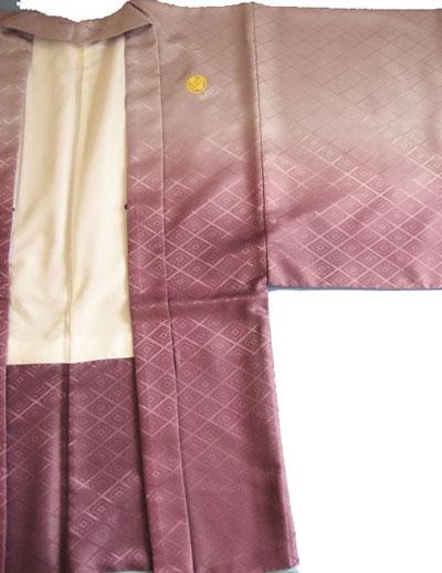 紫ぼかし羽織