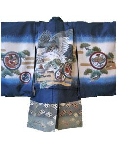 1.紺金鷹+灰銀菱袴