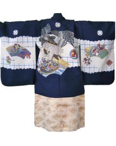 2.紺鷹+白金菊菱袴
