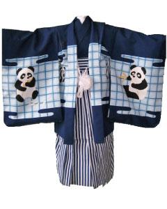 5.紺パンダ+紺縞袴