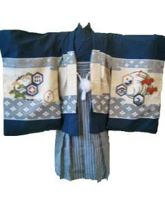 8.紺鷹+黒梯子縞袴