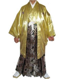 1.黄金羽織金龍袴
