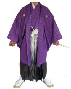 11.紫羽織青金ぼかし袴