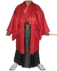 12.赤羽織黒銀縞袴