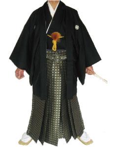2.黒刺子羽織黒松袴