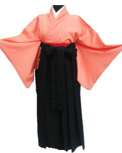24.サーモンピンク+濃紺袴