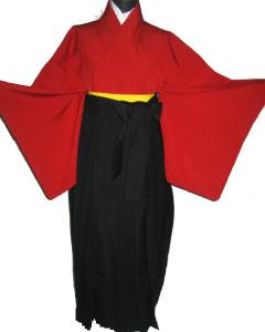 25.赤+黒袴