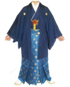 5.紺羽織紺金鶴袴