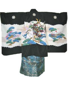 5.黒武士+青緑金菱袴