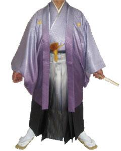 7.紫ぼかし羽織紺金ぼかし袴