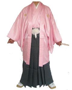 8.桜羽織灰金菱袴