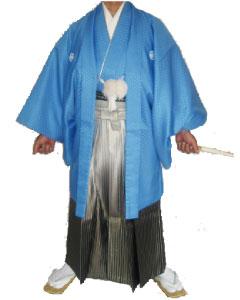 9.空羽織黒虹ぼかし袴