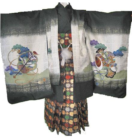 金黒兜+紫五色縞袴