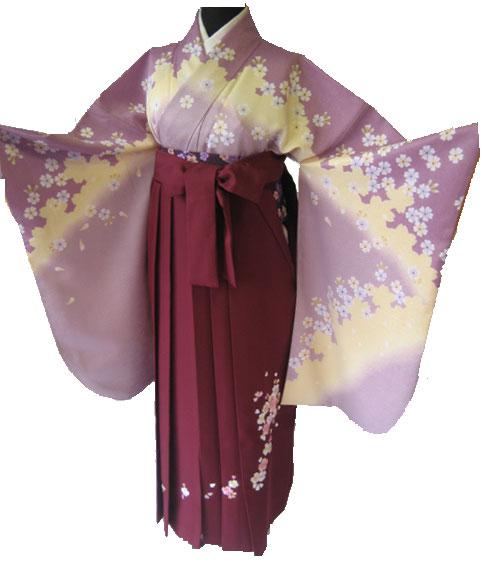 7-1.藤黄桜+ワインハート桜刺繍袴