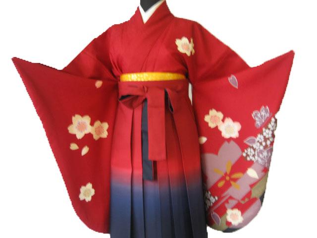 9-2.赤大桜+赤紺ぼかし袴