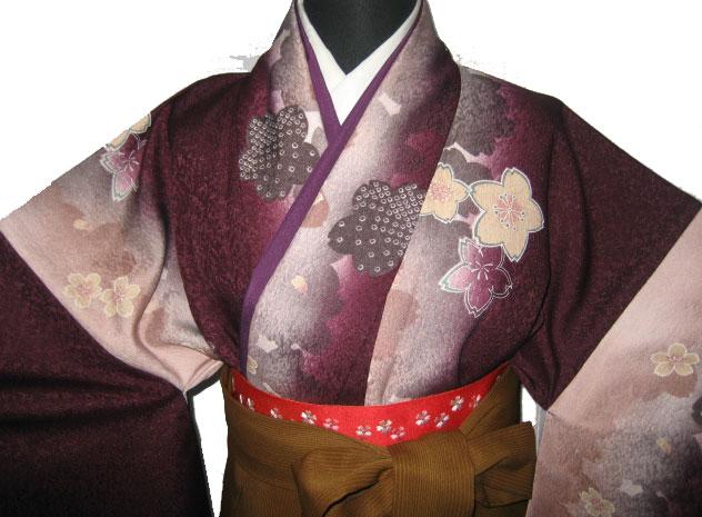 11-1.紫浪漫桜+茶京縞袴