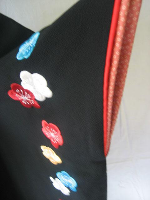12-1.黒大梅刺繍+ワインぽかし袴