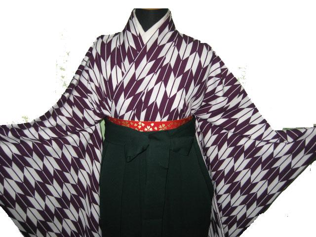 17-1.紫矢絣+緑袴