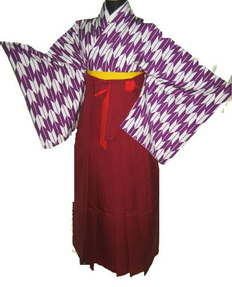 20-1.紫矢絣+えんじ袴