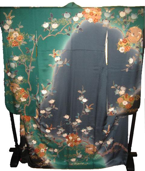 緑橘花丸紋4