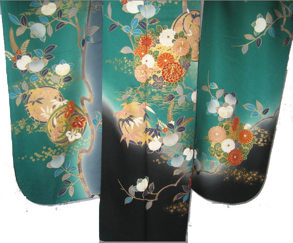 緑橘花丸紋3