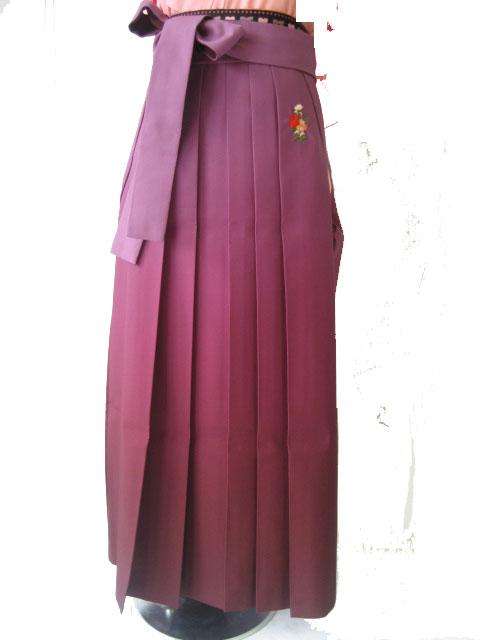 8-1.桃撫子+紫ぼかし撫子刺繍袴