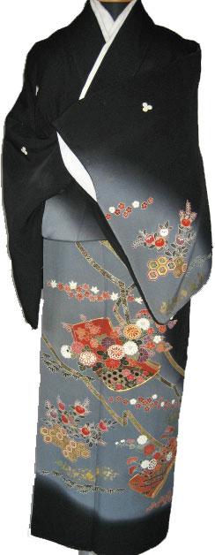 着物レンタル 黒留袖貸衣装/14.振薄藍帯
