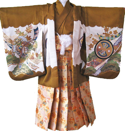 1.金茶鷹+白金八角袴