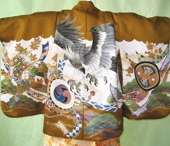 金茶鷹+白金八角袴