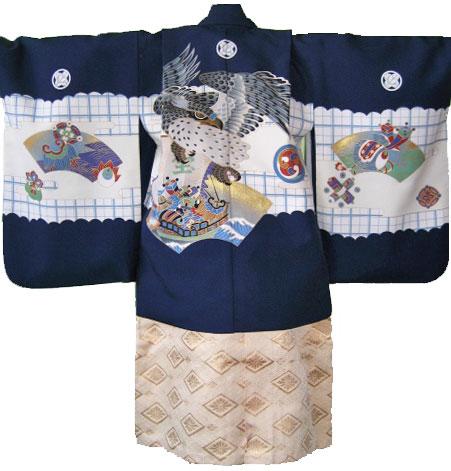 紺鷹+白金菊菱袴