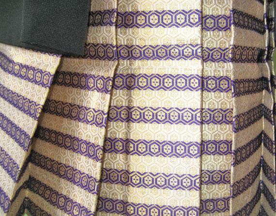 黒山車+紫縞袴