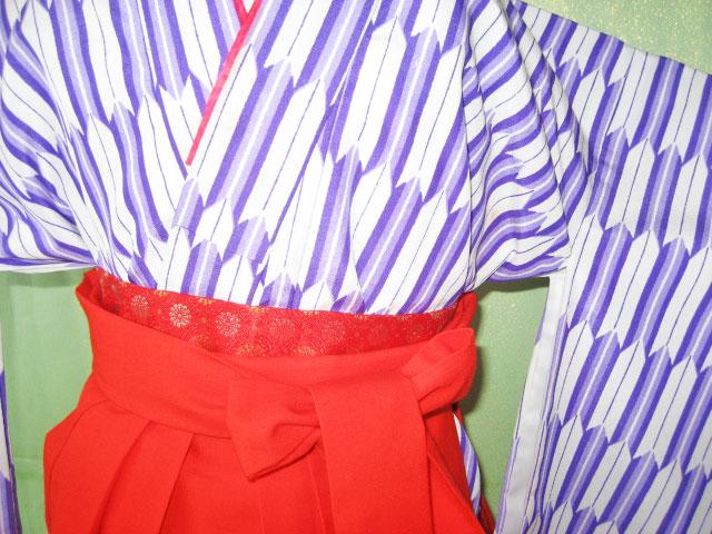.7才女児紫矢絣+朱袴;